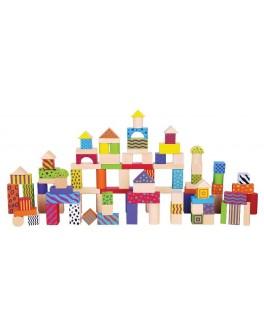 Деревянный конструктор кубики Viga Toys Город 100 шт (59696)