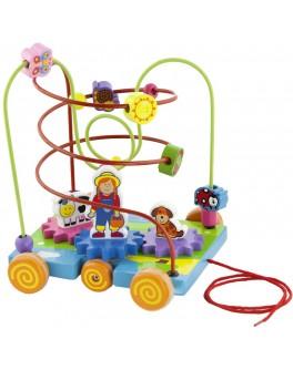 Деревянный лабиринт Viga Toys Машинка (50120)  - afk 50120