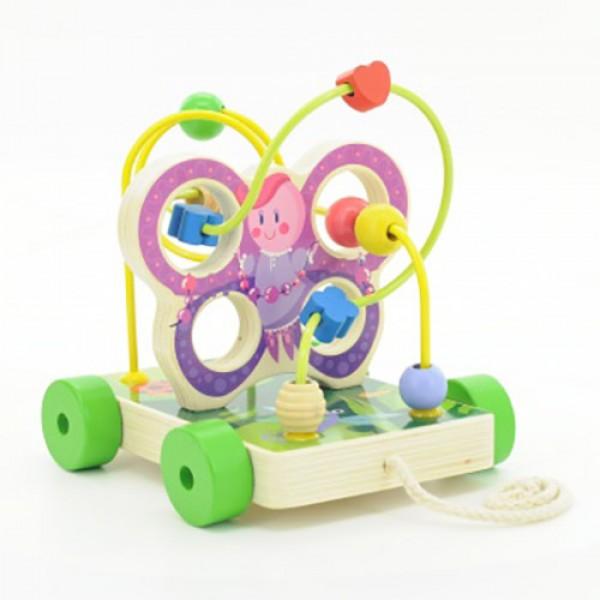 лабиринт из дерева каталка бабочка, Мир деревянных игрушек
