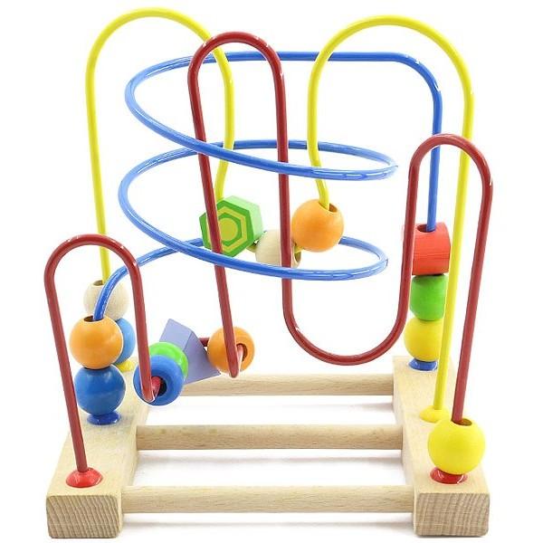 лабиринт из дерева Трёхцветный, Мир деревянных игрушек