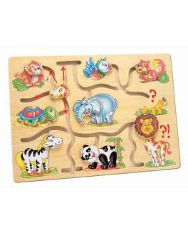 Деревянная игра Подбери голову животному Африка Bino (88096) - Bin 88096