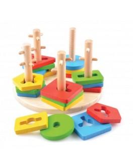 Деревянная игрушка логический круг Монтессори