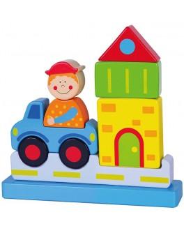 Деревянный магнитный 3D пазл Viga Toys Город (59703) - afk 59703
