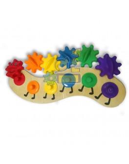 Дерев'яна іграшка шестерінки Гусениця - MD3084