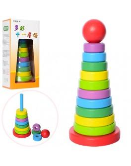 Деревянная игрушка Пирамидка (MD 1021) - mpl MD 1021