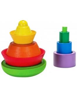Деревянная игрушка Коническая пирамидка Plan Toys (5617) - plant 5617