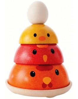 Деревянная игрушка пирамидка Куриное гнездо Plan Toys (5695) - plant 5695