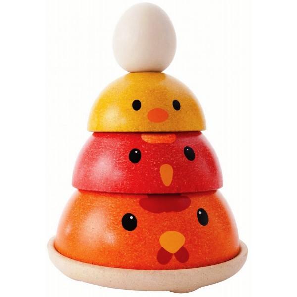пирамидка Куриное гнездо Plan Toys (5695)
