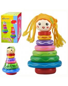 Деревянная игрушка Пирамидка Куколка (MD 0133) - mpl MD 0133