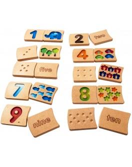 Деревянные Цифры 1-10 Plan Toys (5641) - plant 5641