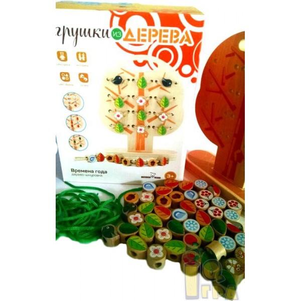 игрушка шнуровка Дерево, Мир деревянных игрушек