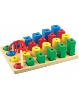 Деревянная игрушка Форма-Цвет-Размер, Мди - Der 237