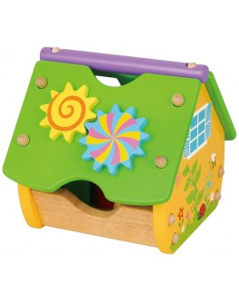 Деревянный конструктор Viga Toys Веселый домик (59485)