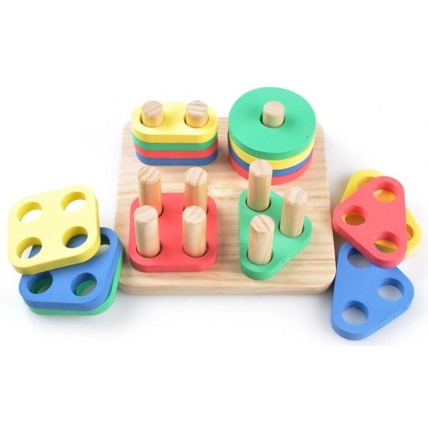 сортер Логический квадрат, Мир деревянных игрушек