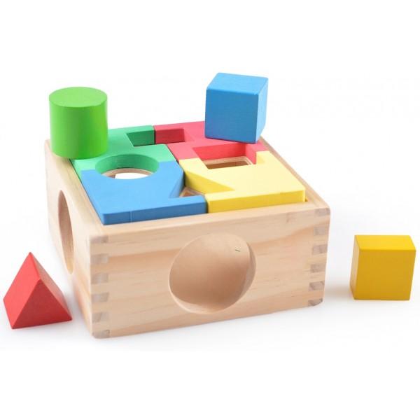 фото Деревянная игрушка Занимательная коробка-сортер, Мди - Der 029