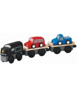 Деревянная игрушка Поезд-автовоз Plan Toys (6253) - plant 6253