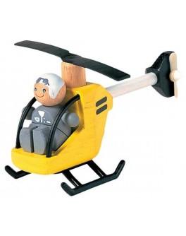 Деревянная игрушка Вертолёт с пилотом Plan Toys (6060) - plant 6060