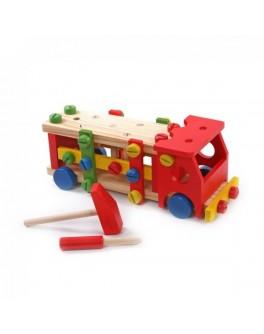 Деревянный конструктор Машина, Мди - Der 033