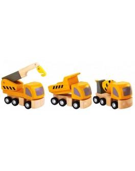 Деревянный набор Дорожно-ремонтные машины Plan Toys (6047) - plant 6047