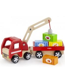Деревянная игрушка Viga Toys Автокран (50690) - afk 50690