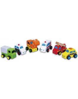 Деревянная игрушка Viga Toys Мини-машинки 6 шт (59621) - afk 59621