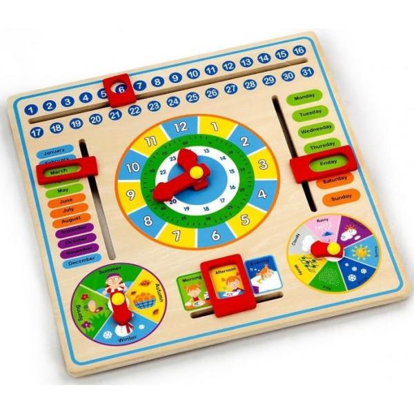Часы и Календарь Viga Toys 59872