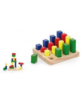Набор деревянных блоков Viga Toys Форма и размер (51367) - afk 51367