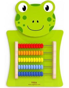 Деревянная игрушка настенная Viga Toys Лягушка со счетами (50679)