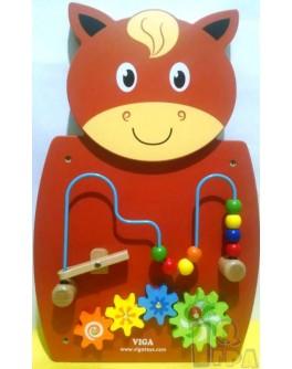 Деревянная игрушка настенная Viga Toys Лошадь с лабиринтом (50678)