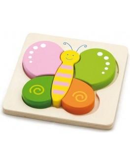 Деревянная рамка-вкладыш Бабочка Viga Toys (50170)
