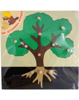 Деревянная игрушка рамка-вкладыш Дерево, Мди - Der p86