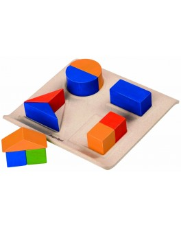 Деревянная игрушка Забавные геометрические формы Вкладыш Plan Toys (5648) - plant 5648