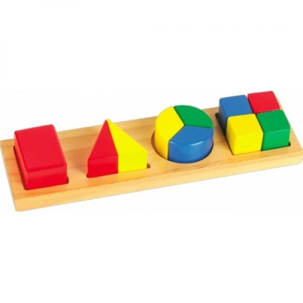 рамка вкладыш Дроби ассорти, Мир деревянных игрушек