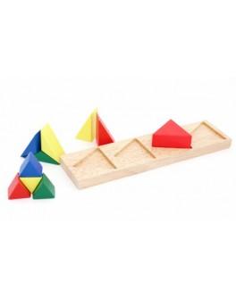 Деревянная игрушка рамка-вкладыш Дроби треугольник, Мди - Der 146