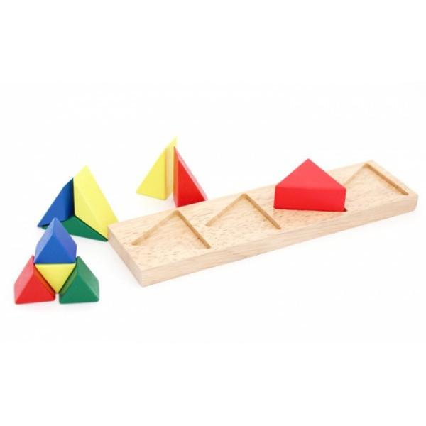 рамка вкладыш дроби треугольник, Мир деревянных игрушек