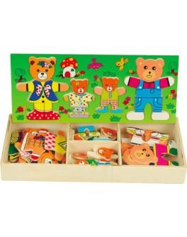 Деревянная рамка-вкладыш Гардероб для одежды Четыре медведя, Мди - Der 165