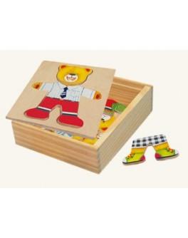 Деревянная рамка-вкладыш Гардероб для одежды Медвежонок Миша, Мди - Der 181b