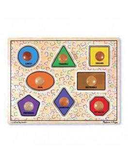 Деревянная игрушка Геометрические фигуры с подписями, Melissa&Doug - MD 3390
