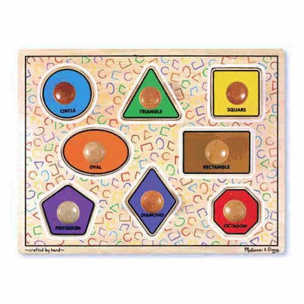 фото Деревянная игрушка Геометрические фигуры с подписями, Melissa&Doug - MD 3390