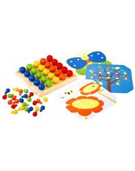 Деревянная наборная доска для творчества Мозаика Plan Toys (5162) - plant 5162