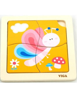 Деревянная игрушка пазл Viga Toys Бабочка (50136)