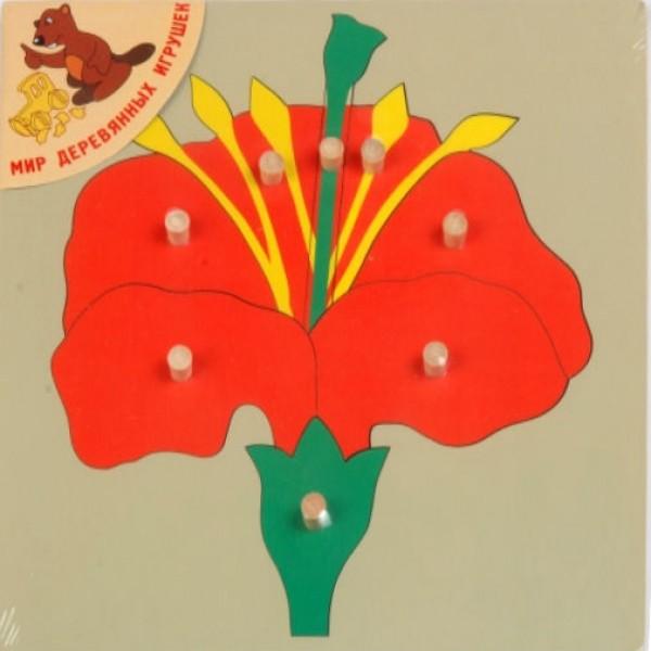 рамка вкладыш цветок Мир деревянных игрушек p85