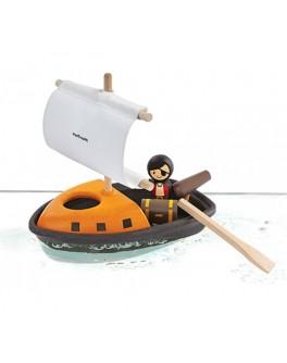 Деревянная игрушка для ванны Пиратский корабль Plan Toys (5707) - plant 5707