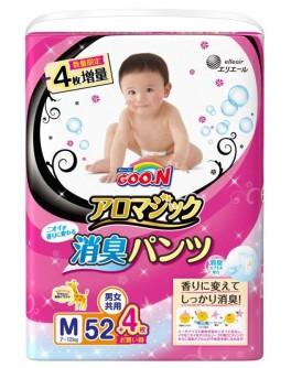 Трусики-подгузники GOO.N серии Aromagic для детей весом 7-12 кг (размер M, унисекс, 52+4 шт) - KDS 853038