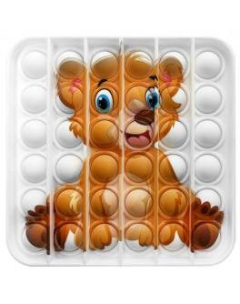 Іграшка антистрес пупирки Pop It Квадрат з ведмедиком