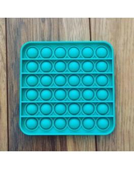 Іграшка антистрес пупирки Pop It Бірюзовий квадрат