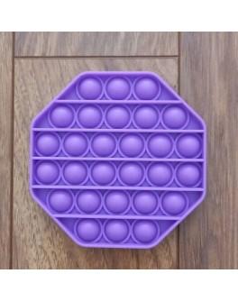 Іграшка антистрес пупирки Pop It Фіолетовий восьмикутник
