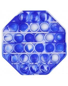 Іграшка антистрес пупирки Pop It Восьмикутник градієнт синьо-білий