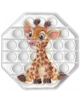 Іграшка антистрес пупирки Pop It Восьмиугольник з жирафом