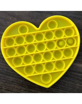 Іграшка антистрес пупирки Pop It Жовте серце